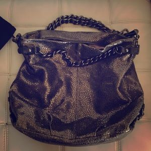 Handbags - Authentic gun metal grey hobo coach bag